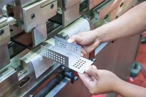 CNC Bending Process Close Up
