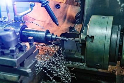 CNC Lathe Process Close Up