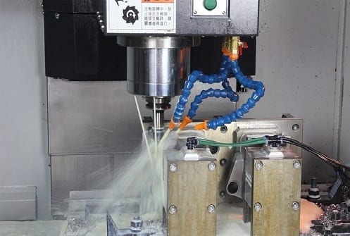 CNC Milling Operation Close Up
