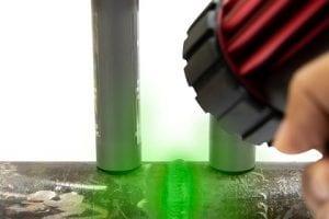 Handheld LED UV Black light Lamps to find crack on steel tube